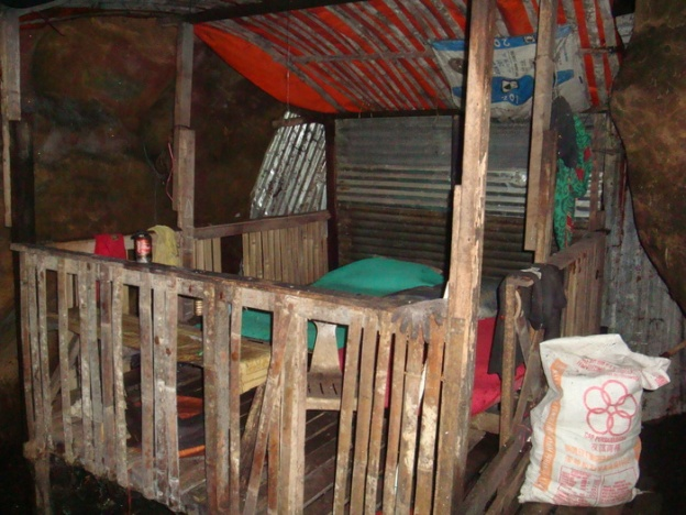 Mostly Filipinos, they live in the caves while collecting birds nest soup ingredients