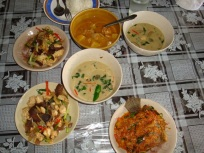 Our Home Cooked Thai Lunch
