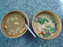 My curry and Tom Yum Soup