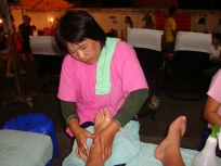 Foot massage was right in the market. Gross