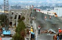 The collapse of The Cypress Freeway in Oakland