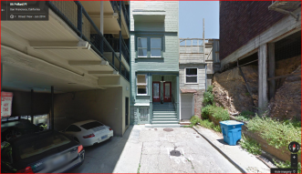 Google Maps shows the exact apartment