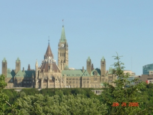 The Parliament Building view from our hotel