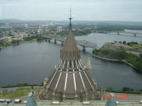 The view from the top of the Peace Tower