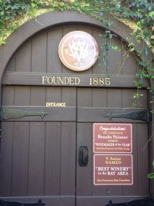 entrance to the winery