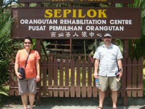 Us in Borneo, the closest we've ever been to Penang, our chosen destination