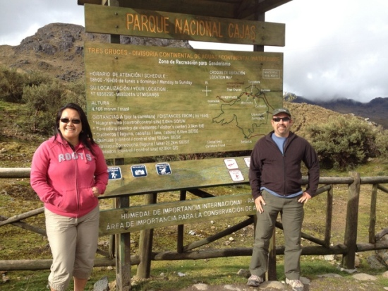 Cajas national Park near Cuenca