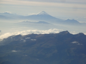Cotopaxi as seen from the airplane