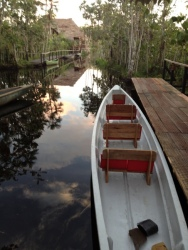 This is the canoe we used for wildlife viewing