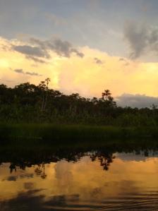 Sunset at Sacha Lodge