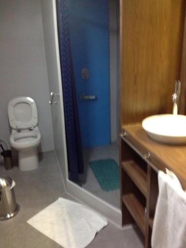 large toilet and great shower