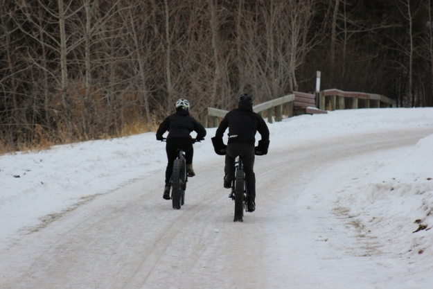 biking in winter