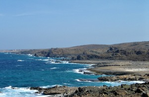 Aruba's rocky coastline