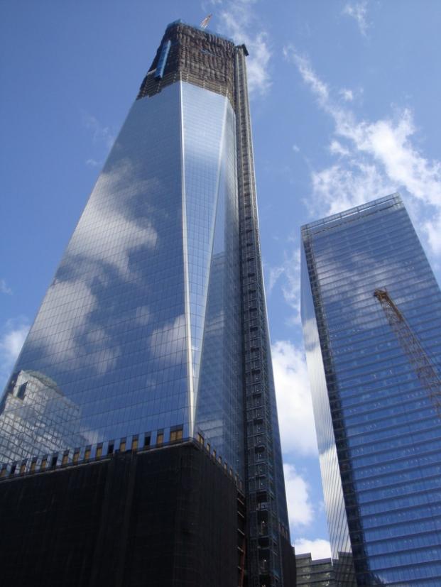 Freedom Tower still under construction in 2013