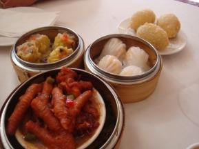 chicken feet, har-kao and shu-mai