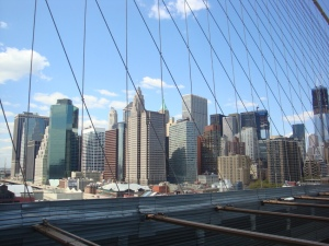 walking over The Brooklyn Bridge - A must do