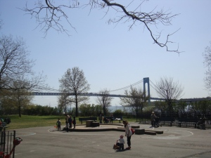 The Verrazano-Narrows Bridge highlights my childhood Brooklyn neighborhood