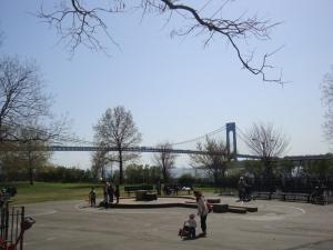 The Verrazano-Narrows Bridge highlights my childhood Brooklyn neighborhood