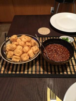 tofu with peanut sauce