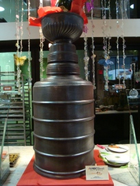 Stanley Cup in chocolate