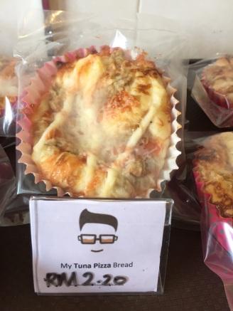I had the strange and delicious tuna pizza bun