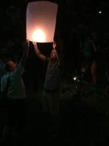 Launching a lantern