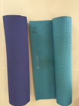 Our yoga mats; yay!!