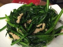 stir fry spinach with pork