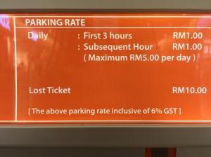 We love Malaysian parking prices