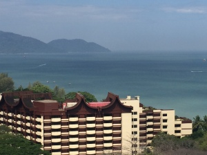 Our view of the Shangri La hotel that's now threatened