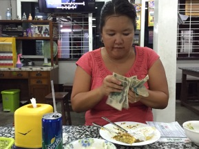 Diane counting cash