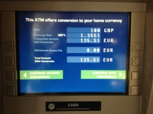 Never let the ATM convert