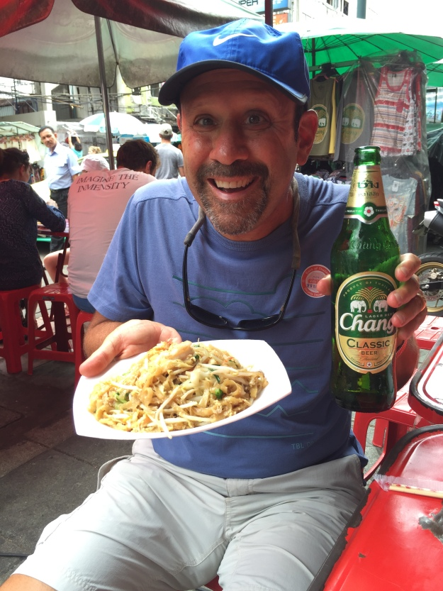 Enjoying street food in Thailand