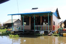 a typical house in the floating village