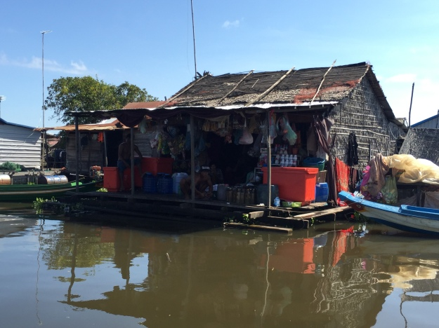 The floating villages of the Tonle Sap