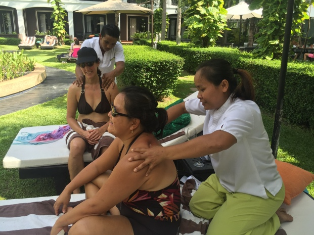 free massages at the pool