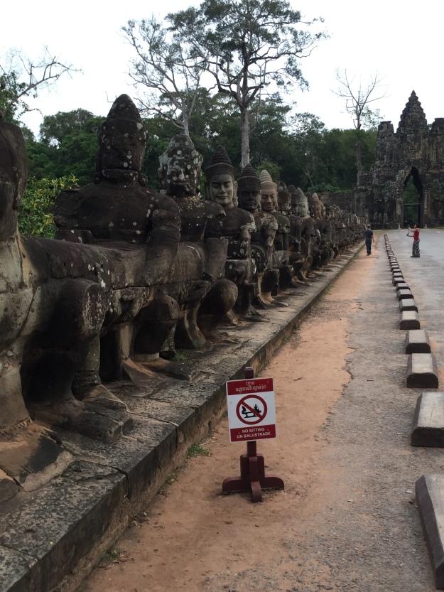 The entrance to Angkor Tham