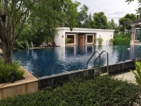 The beautiful pool that's included in our rent at no extra cost