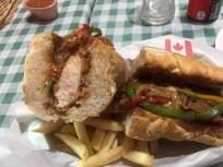 Huge chicken parm sandwich. Also the best in town