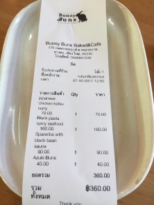 about $10.50 USD for lunch