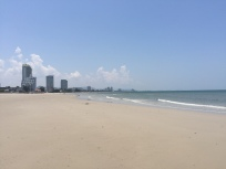 Hua HIn beach. Not beautiful but does have clean air