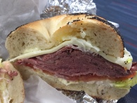 From a Bay Ridge Brooklyn bagel shop and much better than Cathay Pacific's meal