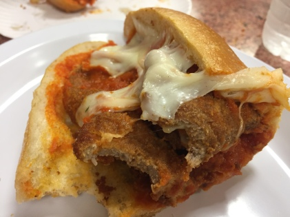 a Veal Cutlet Parm Hero
