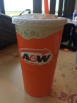 A&W root beer was free all day allover Canada for one whole day; we had three each